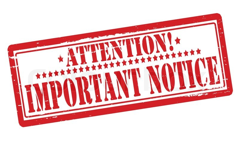 Notice for Publication requirements